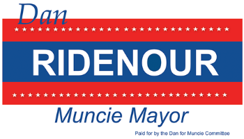 Dan Ridenour for Muncie Mayor Logo